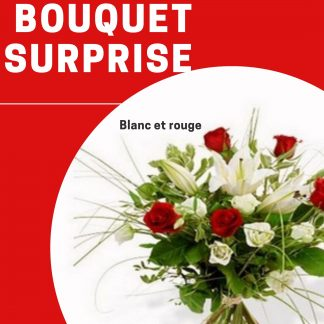 bouquet rouge blanc