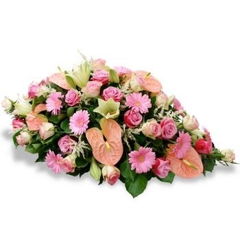 Raquette fleurs roses pastel