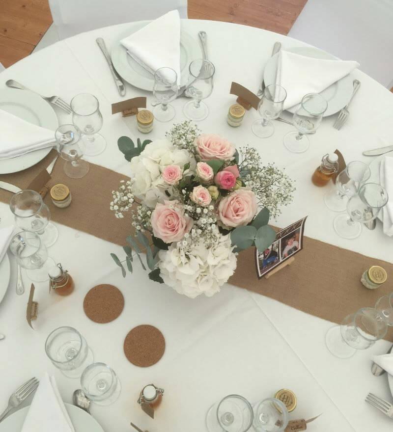 Centres de tables mariage à Albi, Saint Juéry